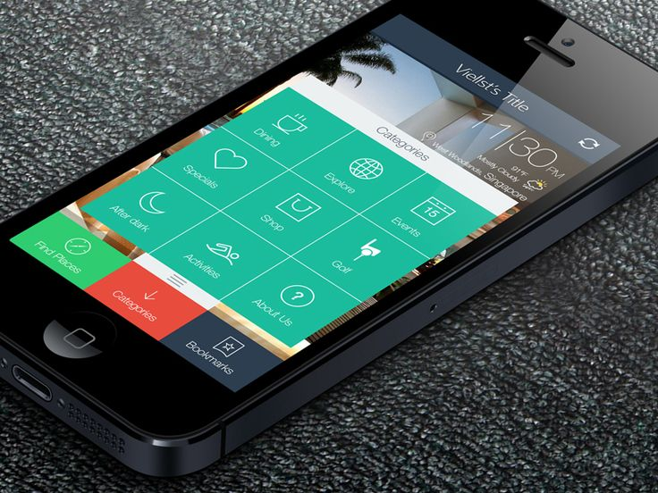 iOS 7 application for iphone 5 Flat  by Caice | One Heart | Viellst