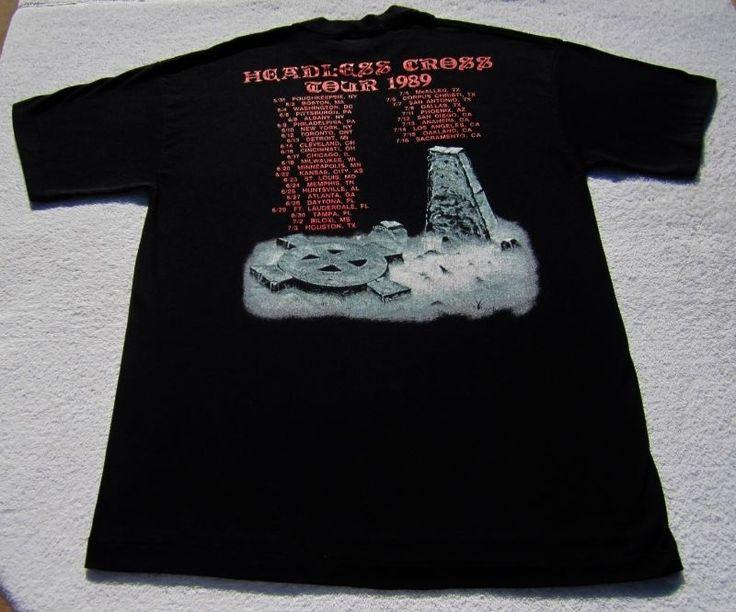 Headless Cross 1989 Tour. BLACK SABBATH.