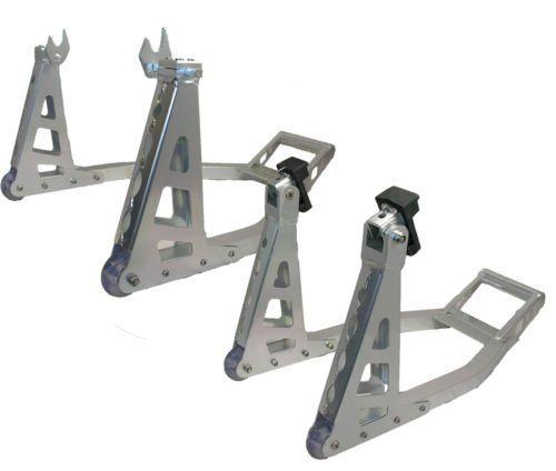 Qtech Motorcycle Front Rear Aluminium Alloy Paddock Stand Set Motorbike Fork Universal: Amazon.co.uk: Car & Motorbike