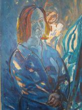 Otoportre,70X100 cm,Tuval üzerine yağlıboya