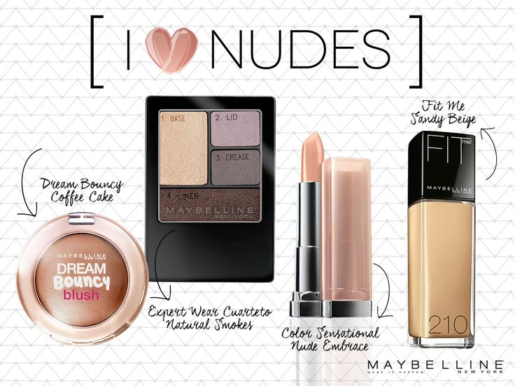 - Dream Bouncy Blush Coffee Cake - Expert Wear Cuarteto Natural Smokes - Color Sensational Nude Embrace - Fit Me Sandy Beige