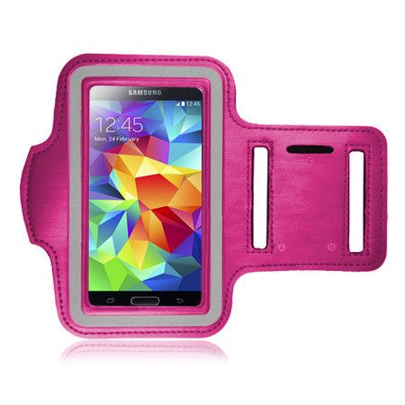 Samsung Galaxy S 5, S 4 & S 3 Pink Sports ArmBand Case Size