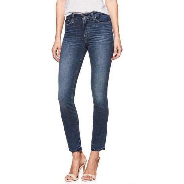PAIGE Transcend Vintage - Hoxton High Waist Ankle Peg Jeans ($144) ❤ liked on Polyvore featuring jeans