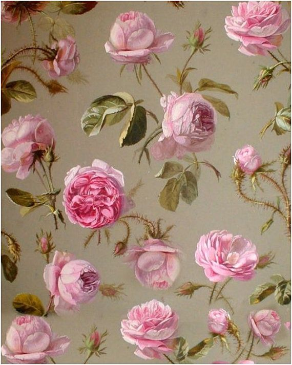 3 Floral Wafer Paper Sheets,Shabby Chic Wafer paper ,Floral wafer paper,Vintage Wallpaper, Frosting sheets for cakes, Edible Image,