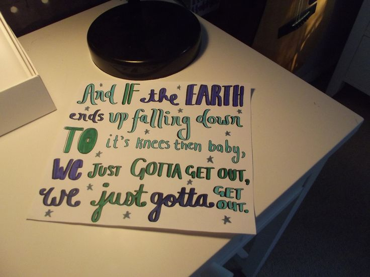 5 Seconds Of Summer: Gotta Get out Lyrics Art!!