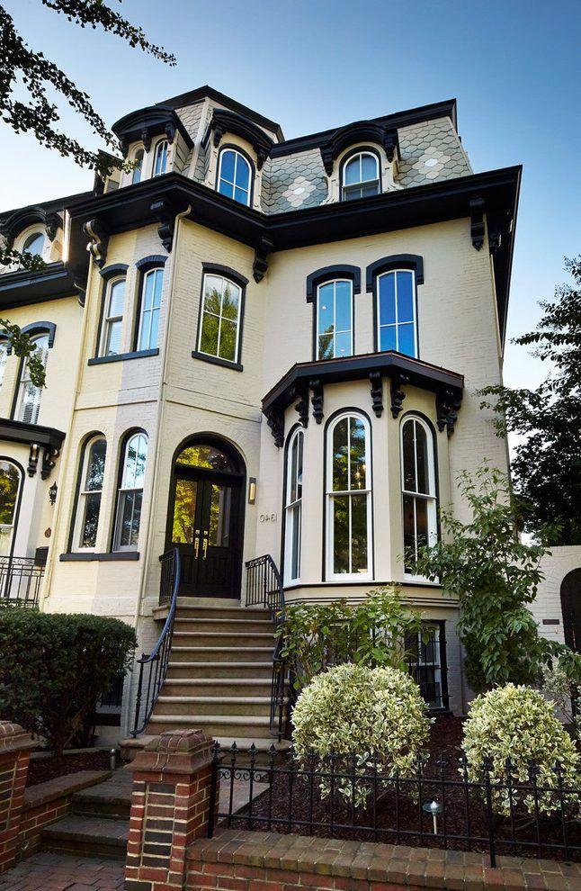 Beige Brick House Exterior Victorian With Outdoor