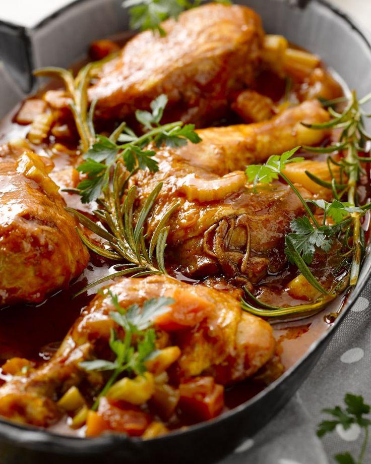 Pollo alla cacciatore - Italiaans kipstoofpotje met een goddelijke saus #15gram