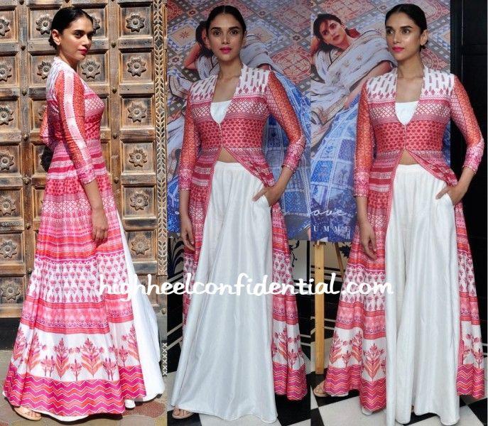 Aditi Rao Hydari Wears Anita Dongre To The Designer's Collection Launch-1