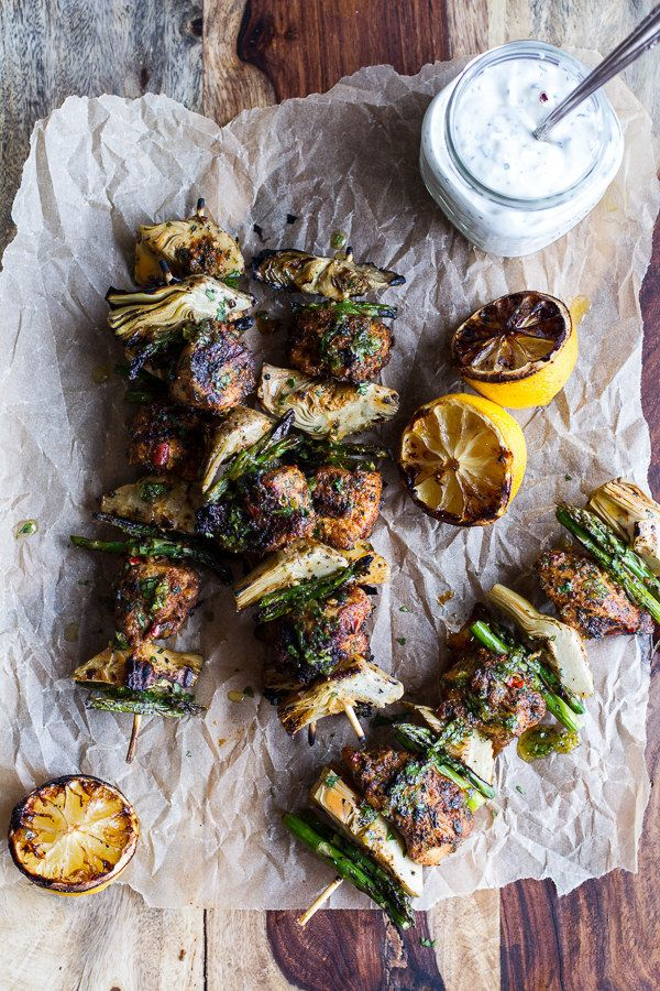 Spring Veggie and Lemon Moroccan Chicken Skewers | 31 Delicious Things To Cook In May