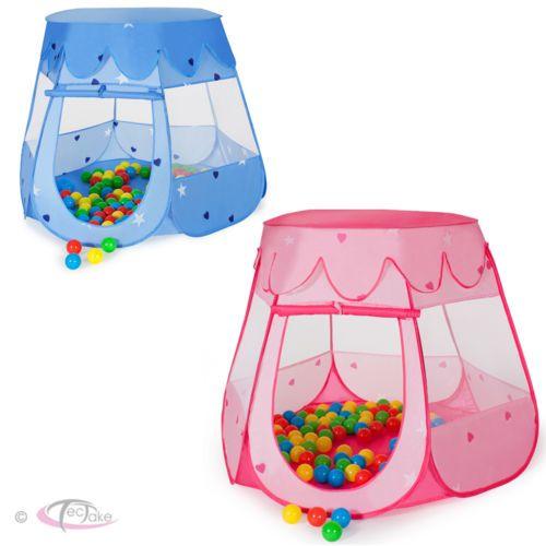 Kinderzelt-Baellebad-Babyzelt-Spielhaus-Spielzelt-100-Baelle-Tasche-neu