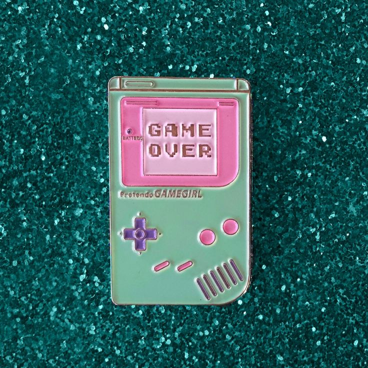 "1.5"" soft enamel lapel pin Cute pastel ""GameGirl"" handheld device ♥ limited to…"
