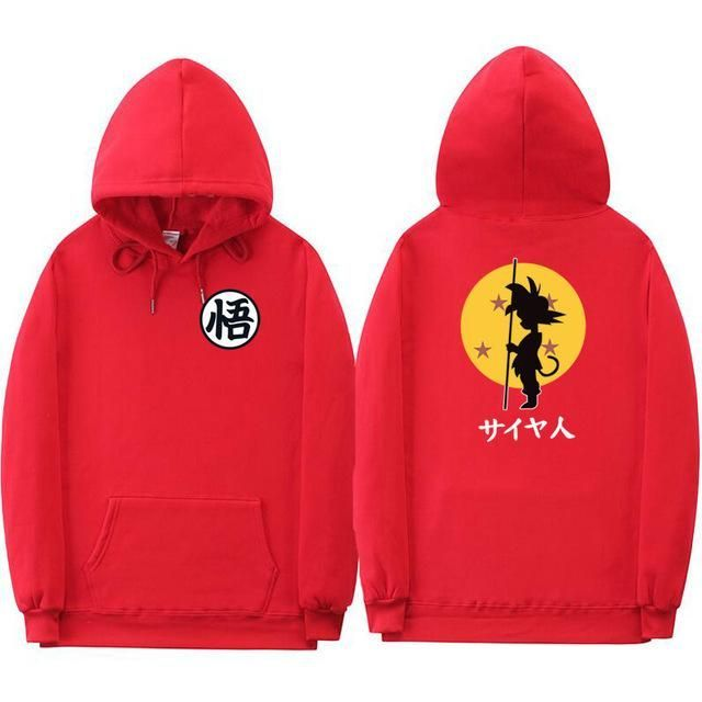 New Fashion Dragon Ball Hoodie Sweatshirt Lovely Cartoon Goku Hoodies Men Polero…