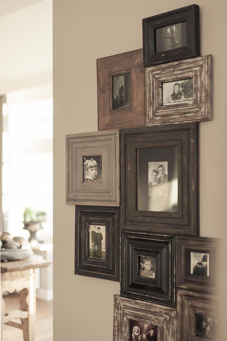 Leuk idee..schilderijen oud hout..leuk met oude zwart/wit foto's. .L.Loe