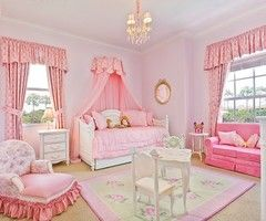 Pretty, pretty little girls room! : Little Girls, Girls Bedrooms, Bedrooms Design, Princesses Rooms, Pink Rooms, Pink Bedrooms, Princesses Bedrooms, Bedrooms Ideas, Girls Rooms