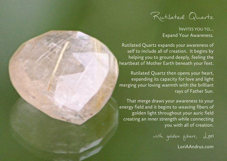 Rutilated Quartz...expand your awareness   Energy crystals ... Quartz Crystal Spiritual Meaning