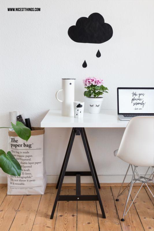 DIY Wolkenkissen, Wolkenbettwäsche und ♥-Pflanze: Edelgeranie | * Nicest Things - Food, Interior, DIY: DIY Wolkenkissen, Wolkenbettwäsche und ♥-Pflanze: Edelgeranie