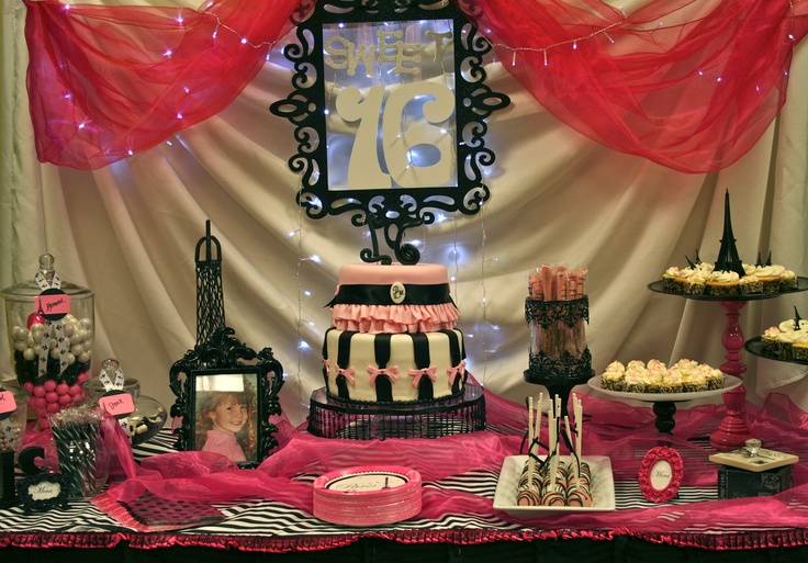 431 best Black, Pink & White party... images on Pinterest | Birthday ...