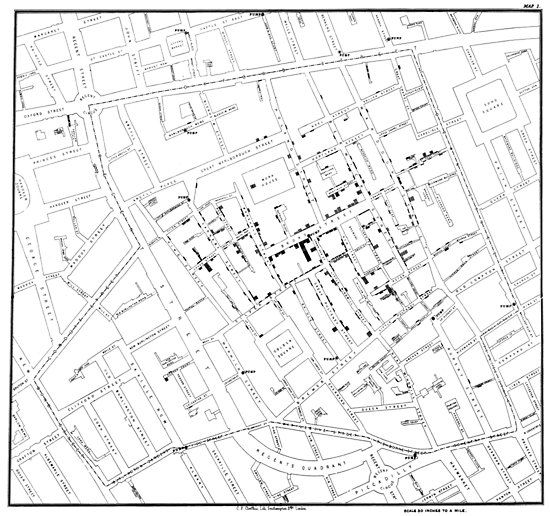 John Snow's Cholera Map by johnb78