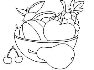 çocuklar için ücretsiz çevrimiçi Elma, armut, kiraz ve boyama kitabı