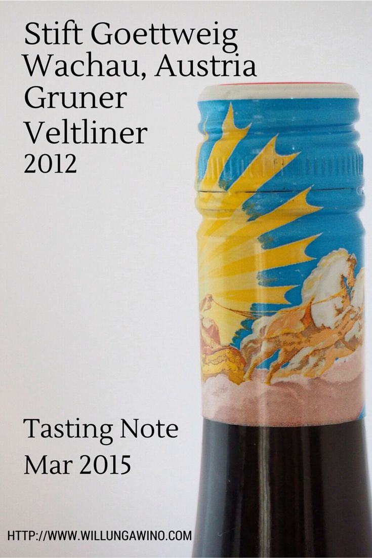 A classic Austrian Gruner with beautiful bottle art, a beautiful story and a few years bottle age