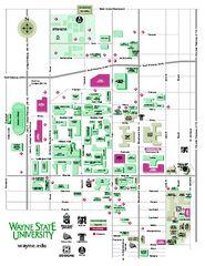 Wayne State University Map
