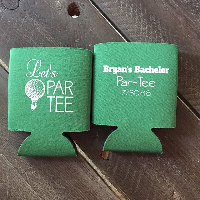 Let's Par-tee! Bachelor Party Koozies by Odyssey Custom Designs