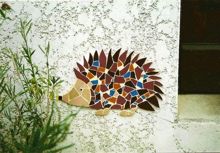 Cute hedgehog mosaic