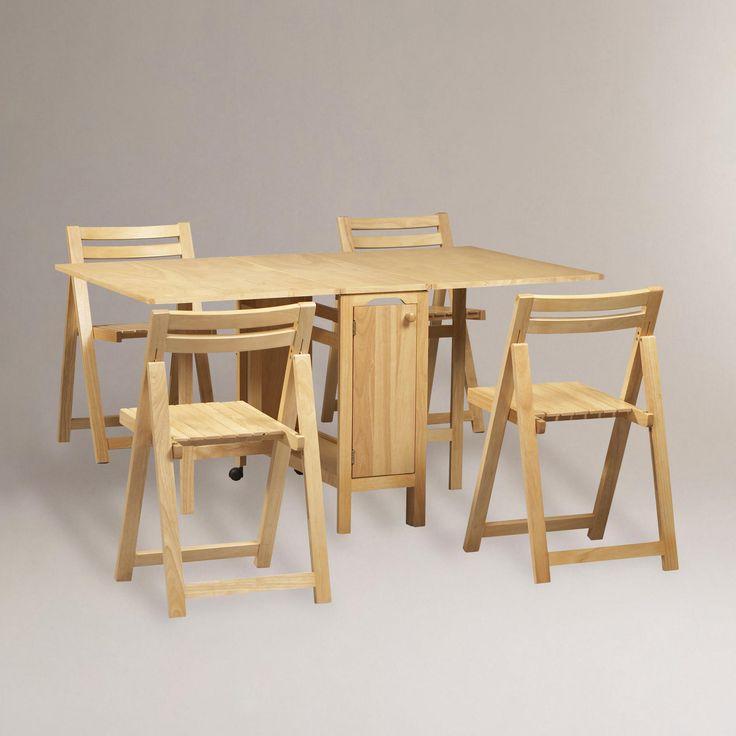 Natural Lawson Space Saver Table U0026 Chair Set | World Market