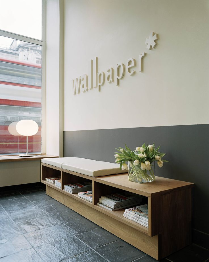 wallpaper designs for office. entryway or hallway with subtle org name sign and collateral display table wallpaper editorial office london u2013 thomas eriksson arkitekter suzy hoodless designs for