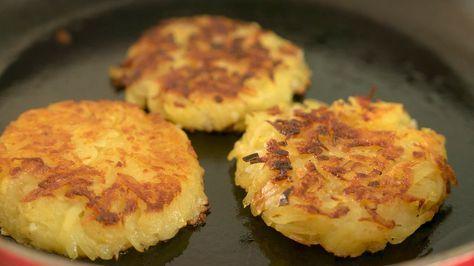 Germaanse of Zwitserse aardappelkoekjes van geraspte aardappel zijn bekend als Rösti, Kartoffelpuffer, Reibekuchen of Reibeplätzchen. In wezen gaat het om …