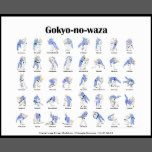 Poster showing the 40 traditional throws of Kodokan Judo (The Gokyo-no-waza).