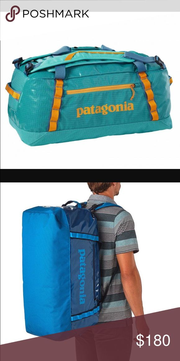 Turquoise and orange black hole duffel Large 120 L Patagonia bag. Used for one summer traveling and is AMAZING. Has straps for duel purpose: over the shoulder sling or straps for a backpack Patagonia Bags Travel Bags