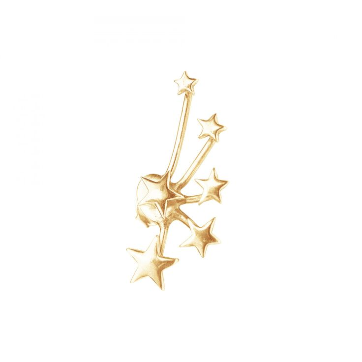 Multigwiazdki - nausznica lewa pozłacana - Kolczyki - Biżuteria - Sklep internetowy Lilou