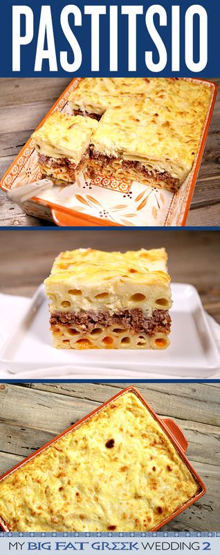 Here's an authentic Pastitsio (Greek Lasagna) Recipe - from RecipeGirl.com