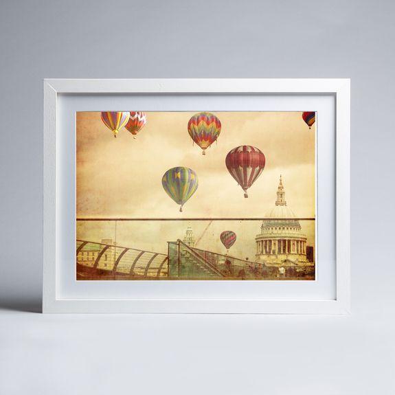 Keri Bevan - London Flight - Framed print