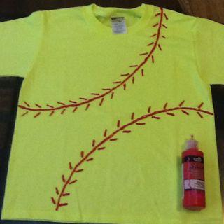 Daughter softball practice shirt