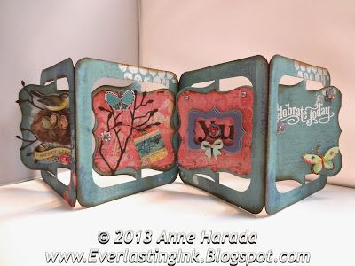 Anne Harada using the Bigz Accordion Album - Everlasting Ink: 3-D Card and A Collage Card