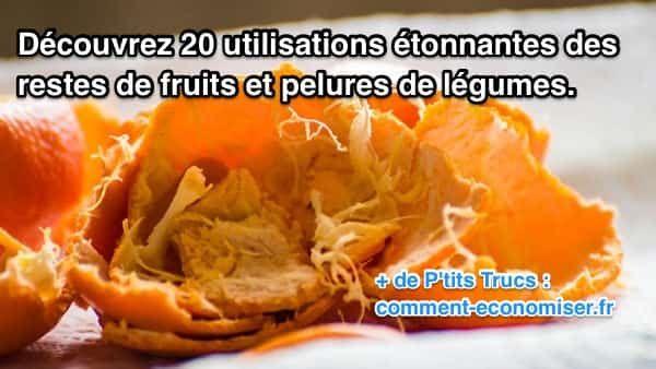 Voici 20 idées pour ne plus jamais gâcher les écorces d'agrumes et de légumes. :-)  Découvrez l'astuce ici : http://www.comment-economiser.fr/20-utilisations-des-restes-de-fruits-et-pelures-de-legumes.html?utm_content=buffer0f707&utm_medium=social&utm_source=pinterest.com&utm_campaign=buffer