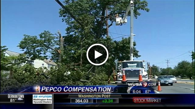 Maryland Pepco, BGE Customers Will See Bill For 24 Hours Of Lost Storm Income In Form Of Bill Stabilization Adjustment | wusa9.com    Now this is interesting -- instead of giving their customers a break because the promised service was not delivered, the company bills them because they didn't make as much money as planned!