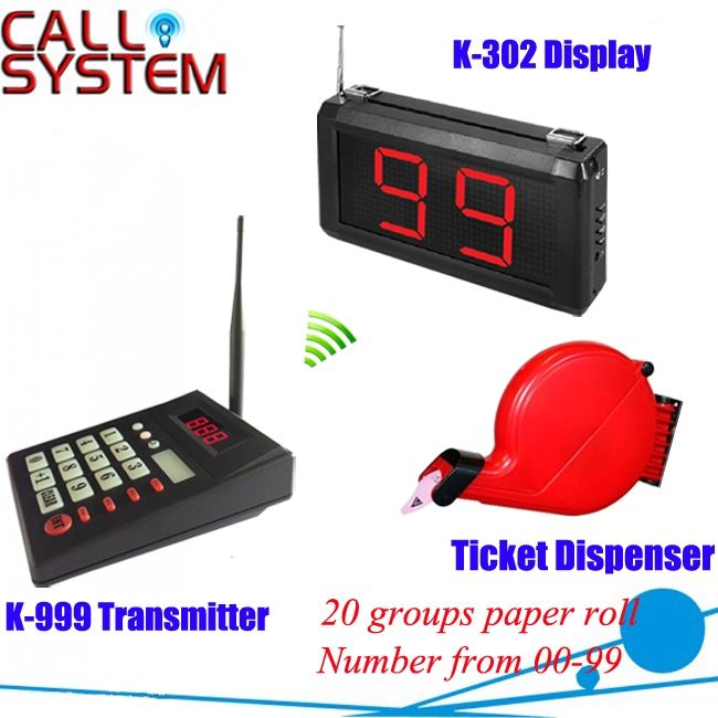 (152.00$)  Watch here  - Queue call display system simple ticket dispenser with numerical keypad and monitor wireless paging