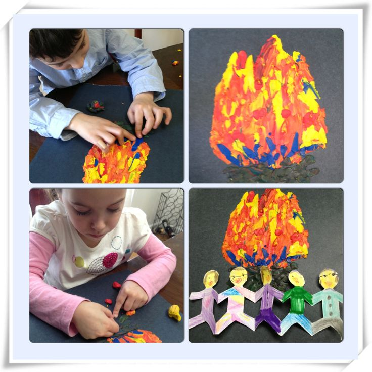 LAG BAOMER CRAFT; DANCING BY THE BONFIRE
