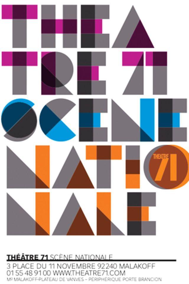 Malte Martin –Affiche pour le Théâtre de Malakoff (2011)