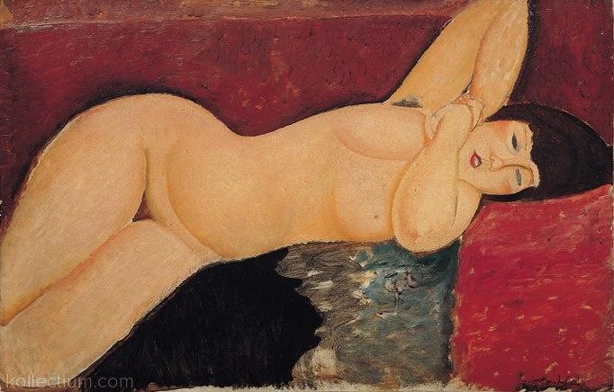 Amedeo Modigliani,Nu couché,1917. Pinacoteca Giovanni e Marella Agnelli