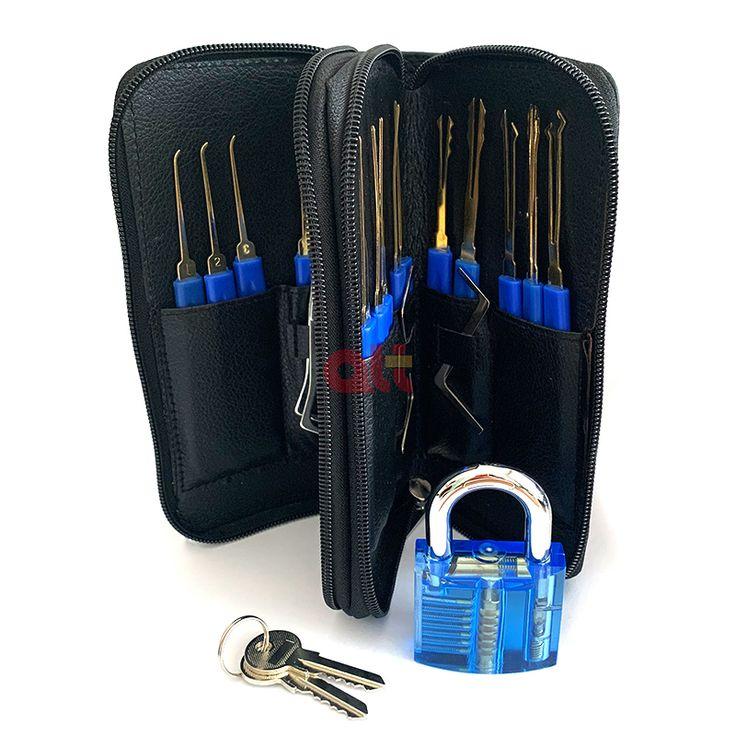 Goso 24pcs blue spring steel lock pick transparent