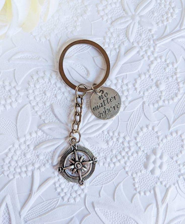 Wanderlust gift, no matter where keychain, personalized gift for world traveler, adventurer, gift for friend, boyfriend gifts