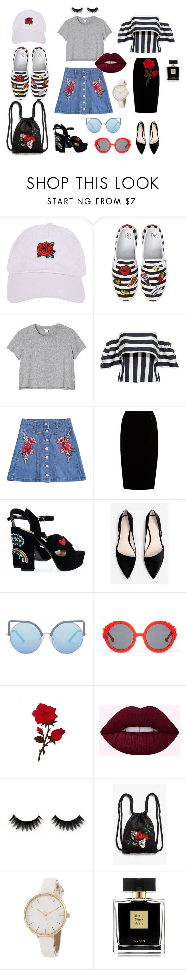 """ROSE ROSE ROSE RED set"" by sweetlittlebunny on Polyvore featuring moda, Armitage Avenue, BP., Monki, Jupe By Jackie, MANGO, Matthew Williamson, Preen i Avon"