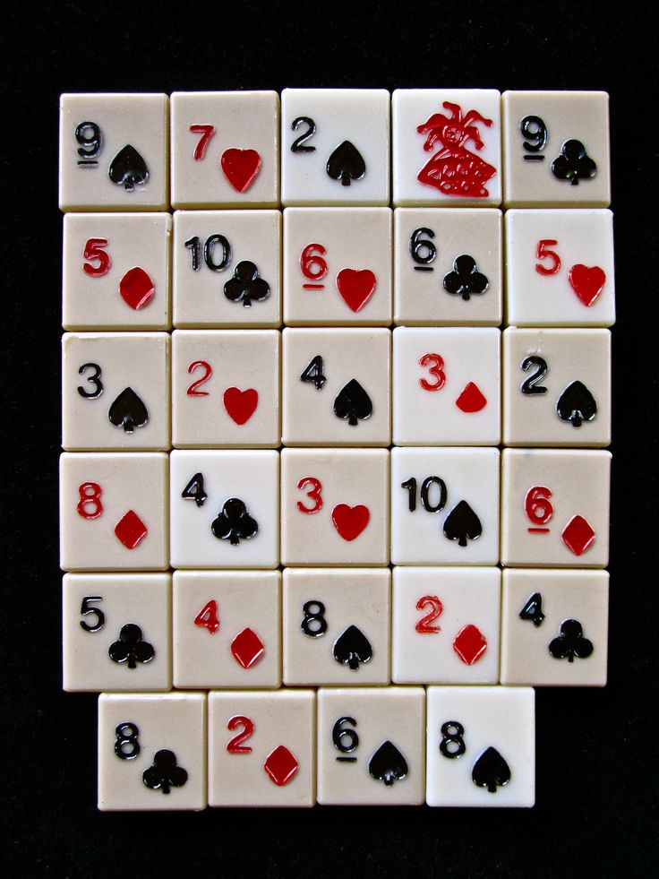 29 Plastic Playing Card Game Tiles Games Boards And