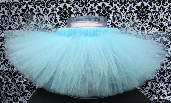 Light Blue Tutu in size 0 months - girl's size 12.  Prices start at $12.00. By TutuLulus on Etsy