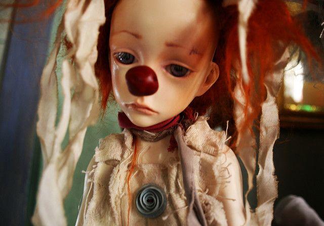 sad little clown,flickr