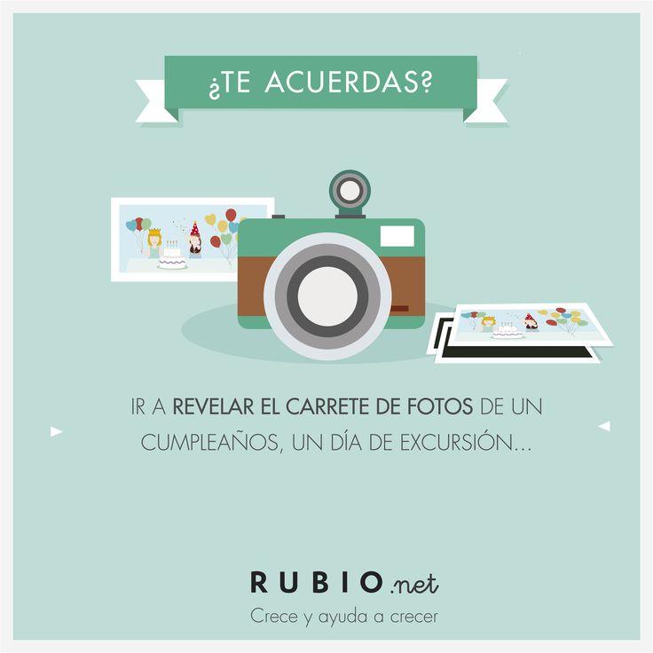 Ir a revelar el carrete de fotos de un cumpleaños, un día de excursión... www.rubio.net